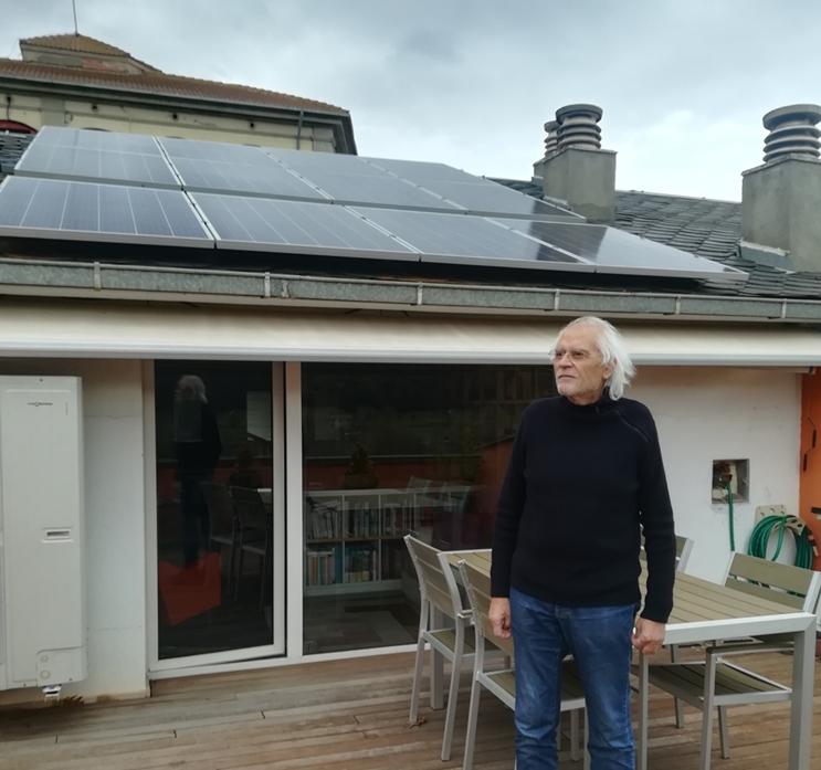 Plaques solars poble